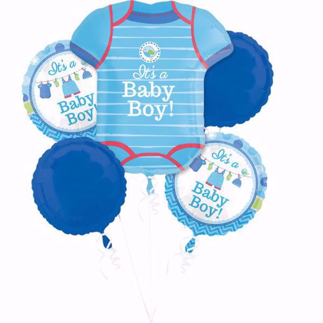 Picture of Bouquet Set Folienballon Babyshower Baby Boy