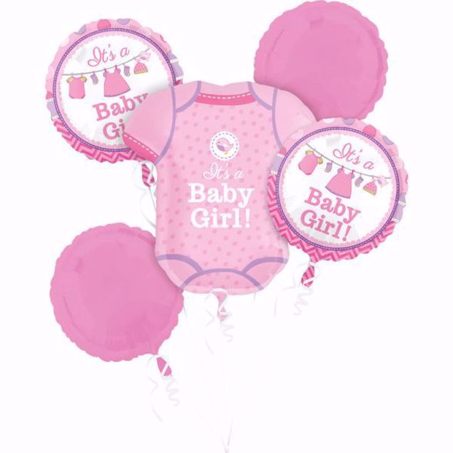 Bild von Bouquet Set Folienballon Babyshower Babygirl