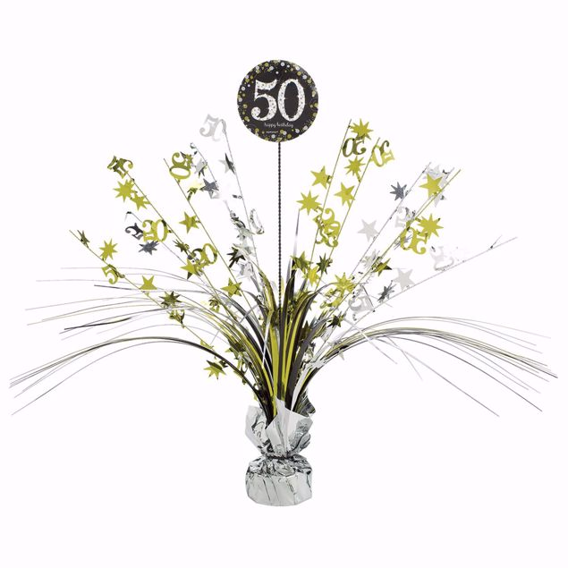 Picture of Tischdekoration 50 Sparkling Celebration - Silver & Gold