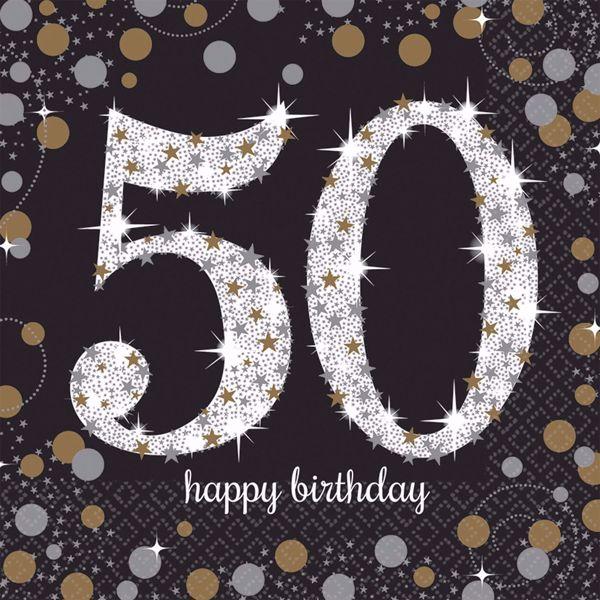 Bild von 16 Servietten 50 Sparkling Celebration - Silver & Gold 33 x 33 cm