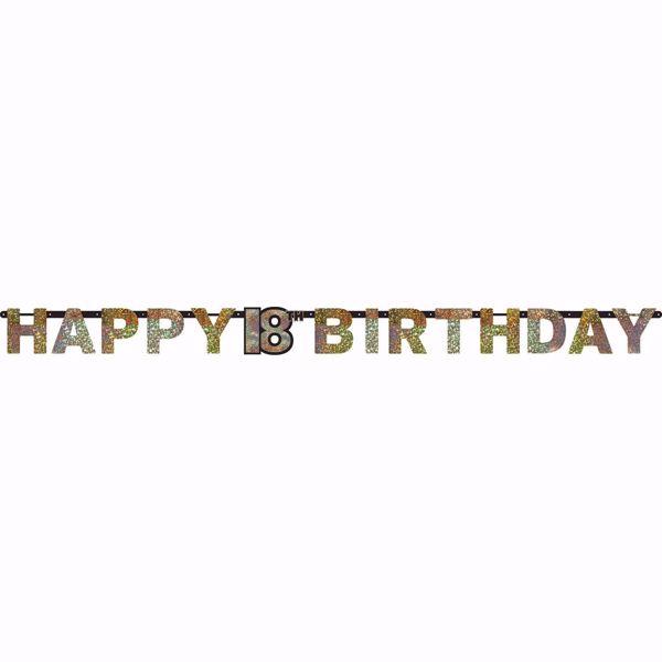 Picture of Partykette 18 Sparkling Celebration - Silver & Gold prismatisch