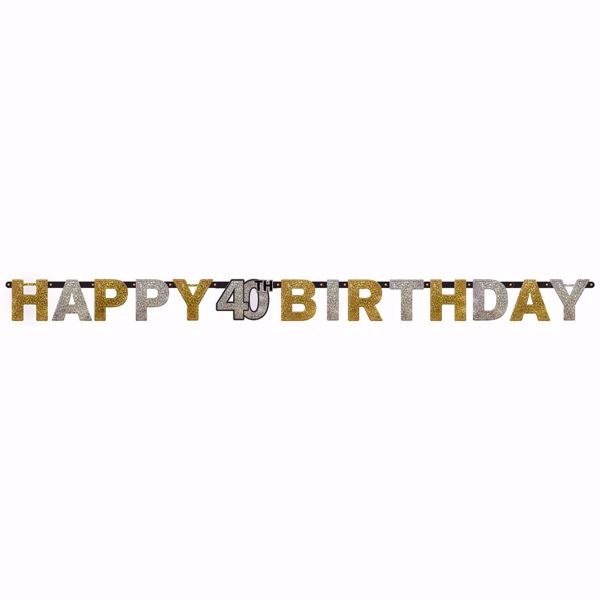 Picture of Partykette 40 Sparkling Celebration - Silver & Gold prismatisch