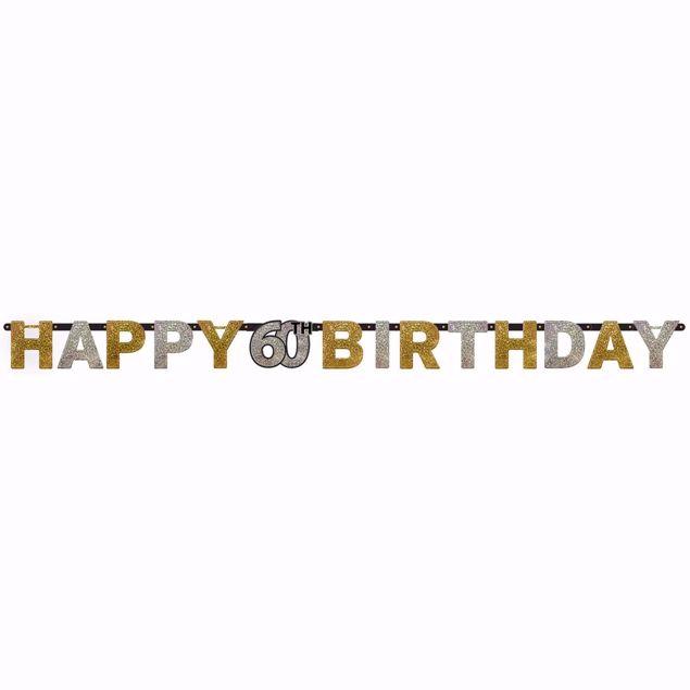 Picture of Partykette 60 Sparkling Celebration - Silver & Gold prismatisch