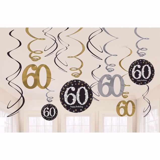 Picture of 12 Deko-Spiralen 60 Sparkling Celebration - Silver & Gold