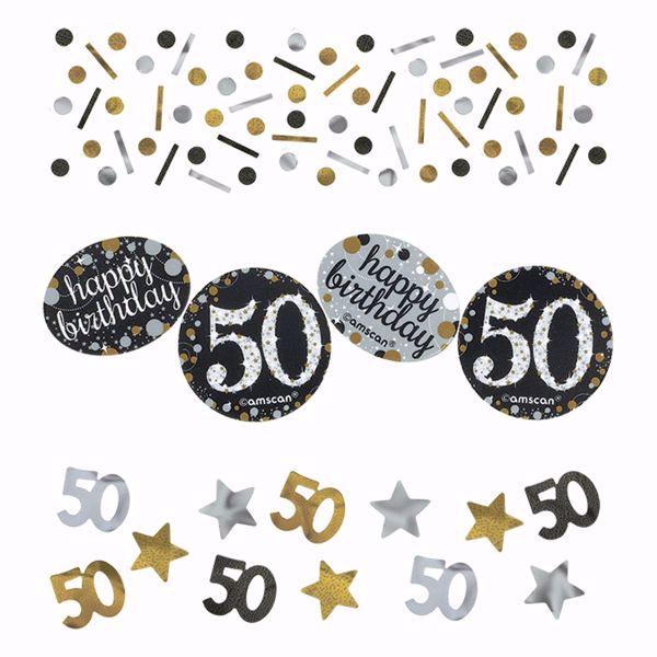Bild von Konfetti 50 Sparkling Celebration - Silver & Gold 34 g