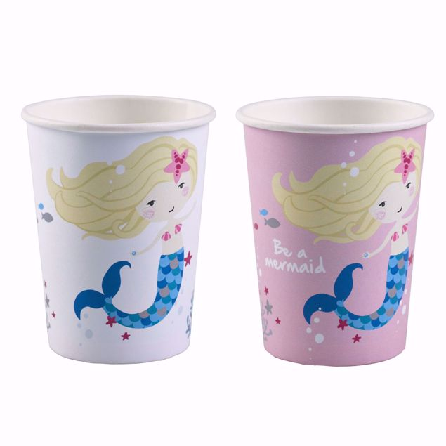 Bild von 8 Becher Be a Mermaid Papier 250ml