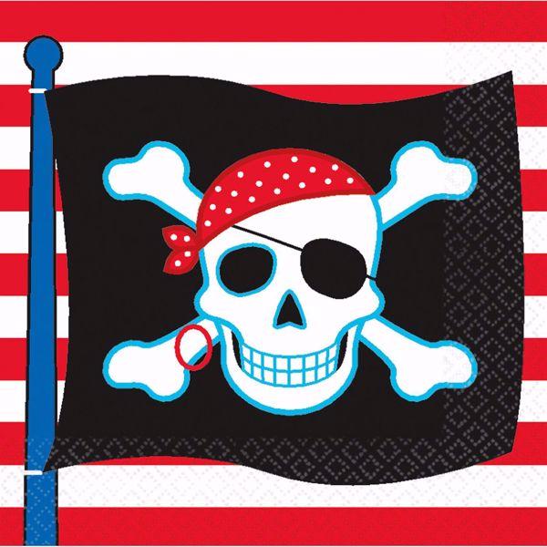 Picture of 16 Servietten Pirate Party 33 x 33 cm