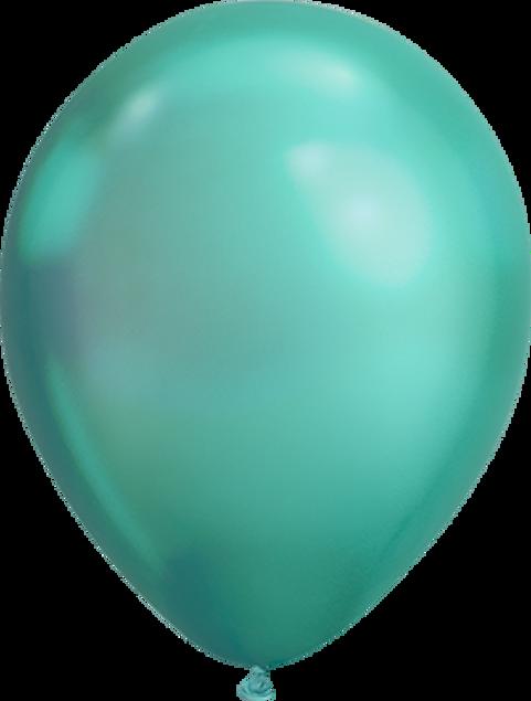 """Bild von Latexballon Rund  Qualatex Chrome Grün  27,5 cm/11"""""""