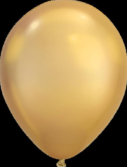 "Picture of Latexballon Rund  Qualatex Chrome Gold 27,5 cm/ 11"""