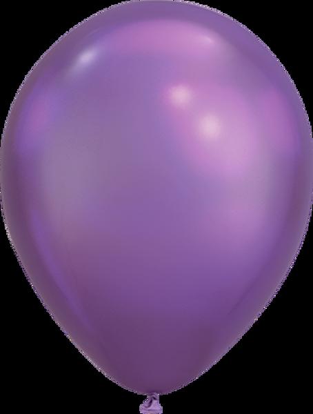 """Picture of Latexballon Rund  Qualatex Chrome Lila 27,5 cm/11"""""""