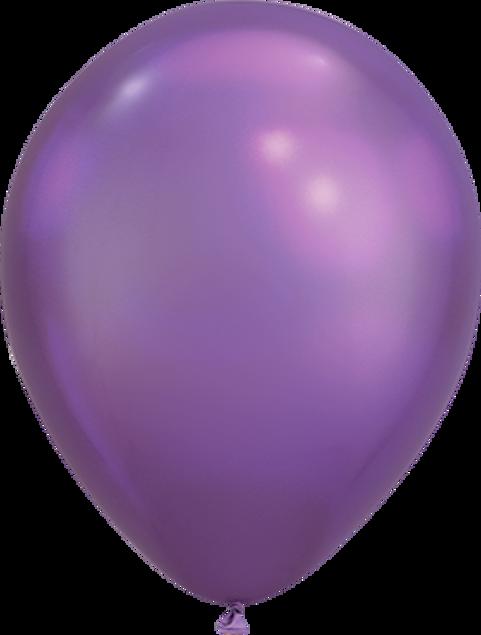 """Bild von Latexballon Rund  Qualatex Chrome Lila 27,5 cm/11"""""""