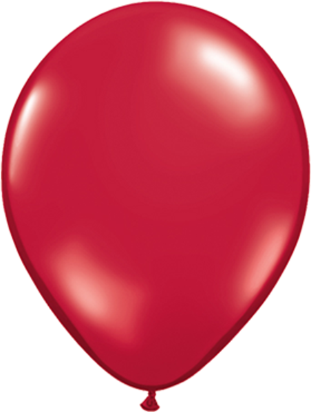 Picture of Latexballon Rund Qualatex Kristall Rot (Transparent) 27,5 cm/11""