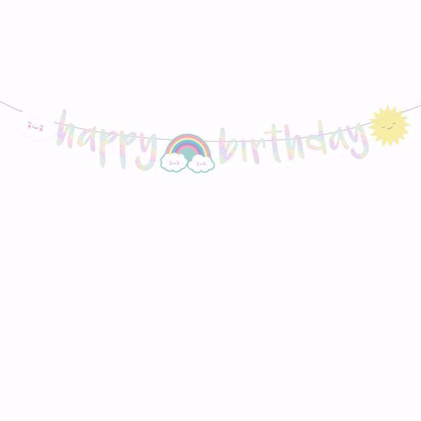 Bild von Partykette Rainbow & Cloud 180cm