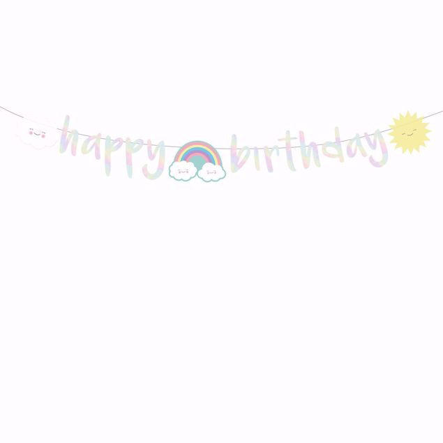 Picture of Partykette Rainbow & Cloud 180cm