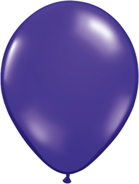 "Picture of Latexballon Rund Qualatex Kristall Lila (Transparent) 27,5 cm/11"""
