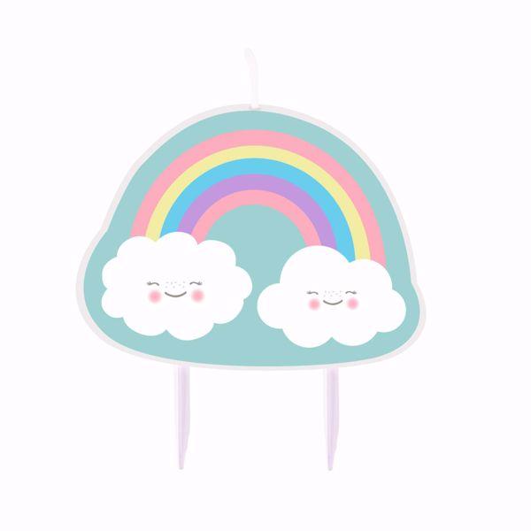 Bild von Geburtstagskerze Rainbow & Cloud