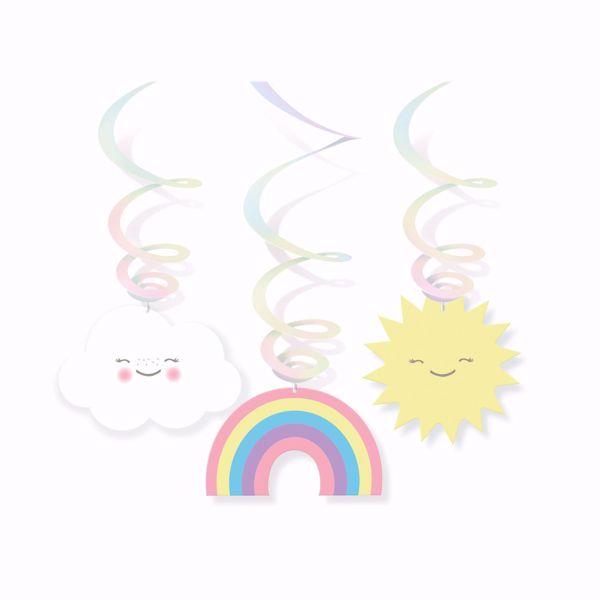Bild von 6 Dekospiralen Rainbow & Cloud