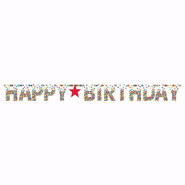 Bild von Riesen-Partykette Birthday Accessories - Primary Rainbow