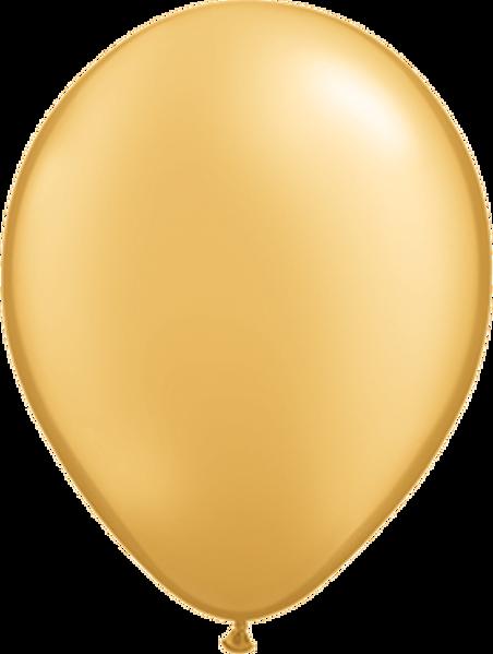 "Picture of Latexballon Rund Qualatex Pearl Gold 27,5 cm/11"""