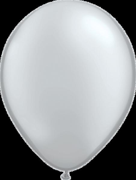 "Picture of Latexballon Rund Qualatex Pearl Silber 27,5 cm/11"""