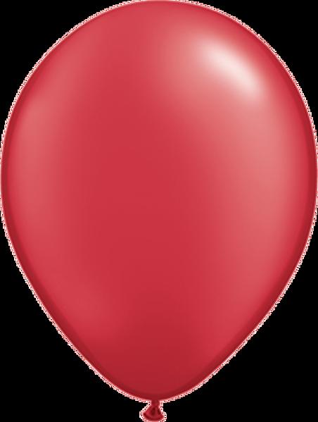 "Picture of Latexballon Rund Qualatex Pearl Rot 27,5 cm/11"""