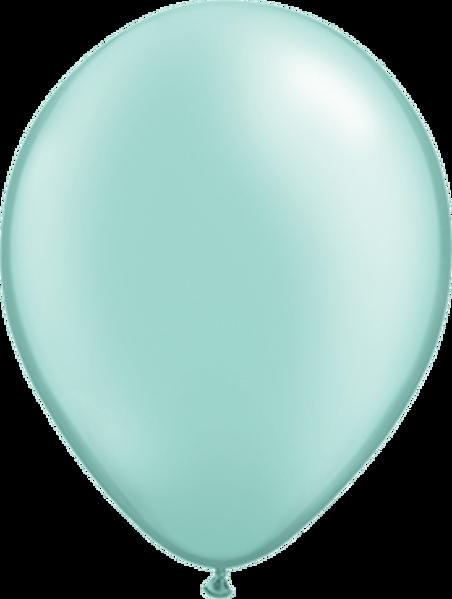"Bild von Latexballon Rund Qualatex Pearl Mint Grün 27,5 cm/11"""