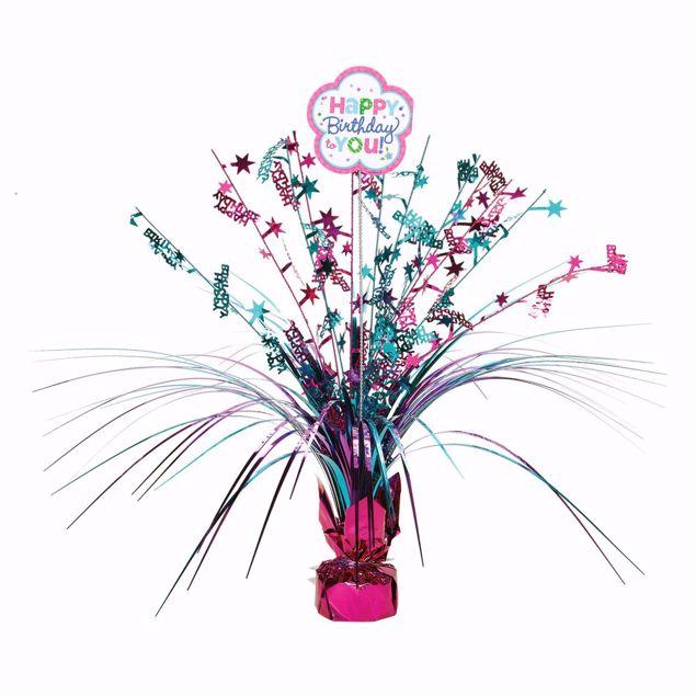 Bild von Tischdekoration Birthday Accessories - pink & türkis