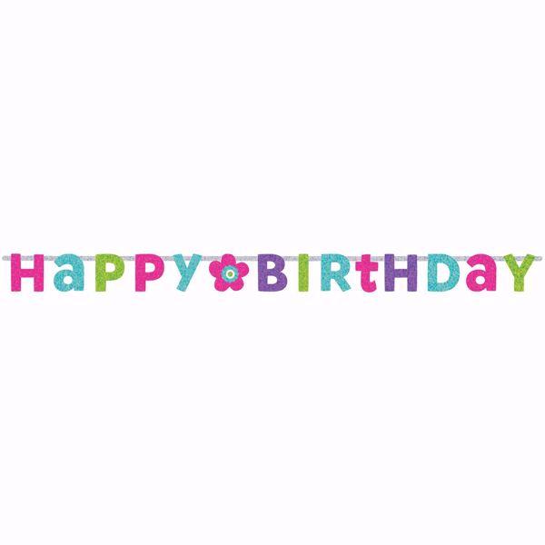 Picture of Partykette Birthday Accessories - pink & türkis prismatisch