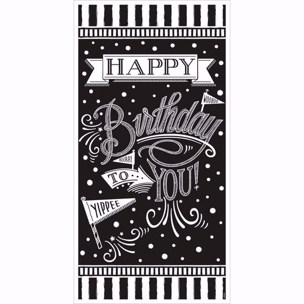 Picture of Signalbanner Chalkboard Birthday 85,1 x 165 cm