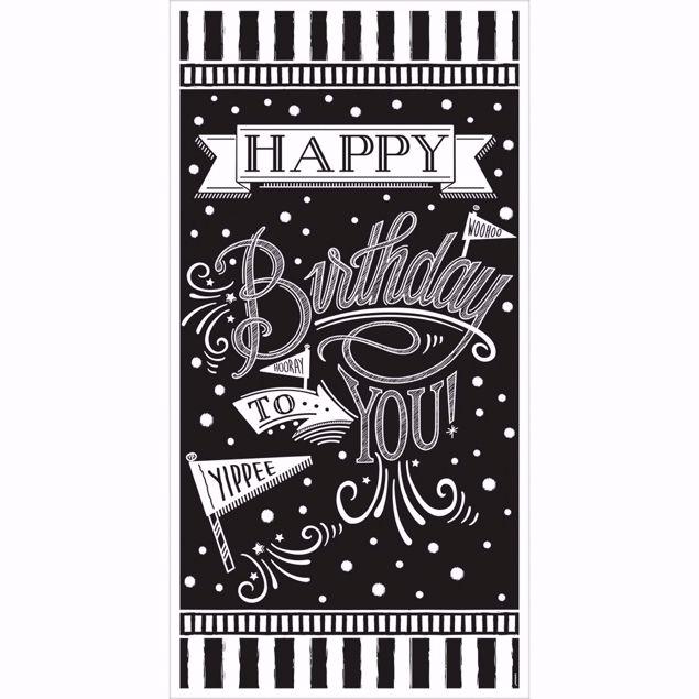 Picture of Signalbanner Chalkboard Birthday 85,1 x 165 cm
