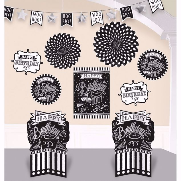 Picture of Deko-Set Chalkboard Birthday 10-teilig