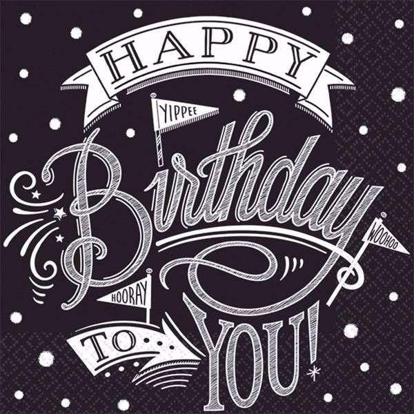 Picture of MULTIPACK 36 Servietten Hooray It's Your Birthday 33 x 33 cm