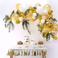 Picture of Gold Ballongirlanden Set