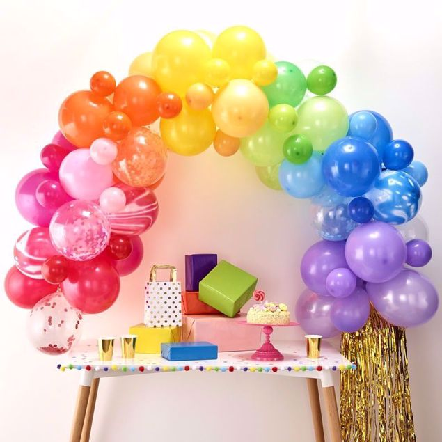 Picture of Regenbogen Ballongirlanden Set