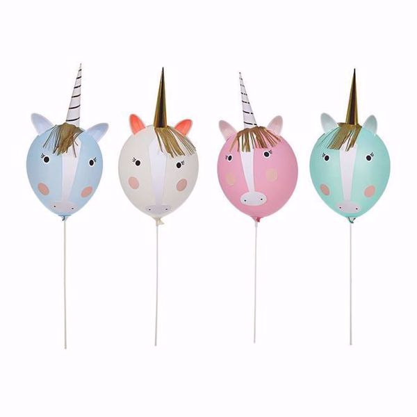 Picture of Latexballon Einhorn Set - Unicorn Ballon Kit 6 Ballons
