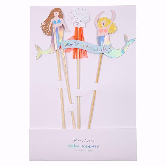 Bild von Meerjungfrau Cake Topper - Let's Be Mermaids Cake Toppers