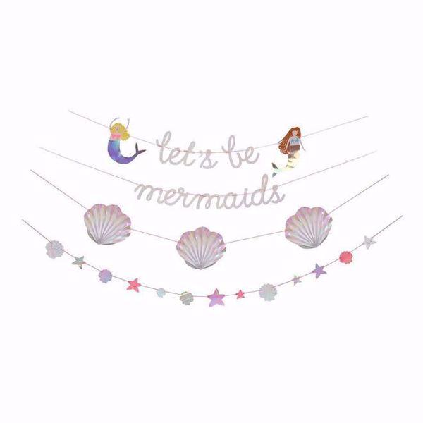 Picture of Meerjungfrau Girlande - Let's Be Mermaids Garland 4 x 2,4 m