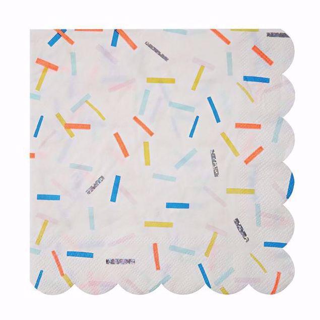 Bild von Streusel Servietten - Sprinkles Napkins 16,5cmx16,5cm