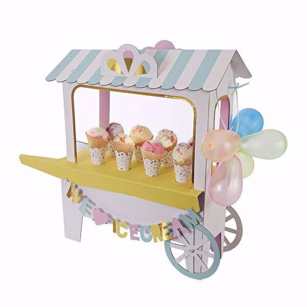 Bild von Eis Creme Wagen - Ice cream centerpiece cart