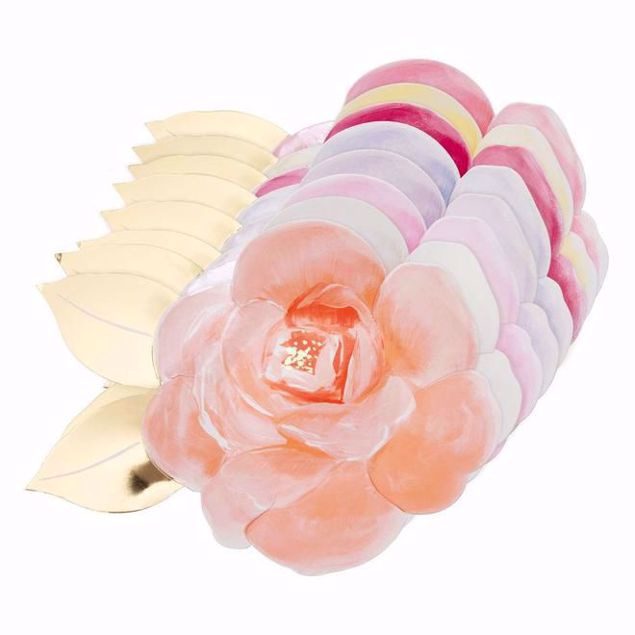 Picture of Rosen Garten Party Teller - Rose garden party plates Pastell