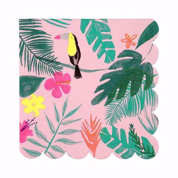 Bild von Pink Tropical Servietten Napkins 16,5 cm x 16,5 cm