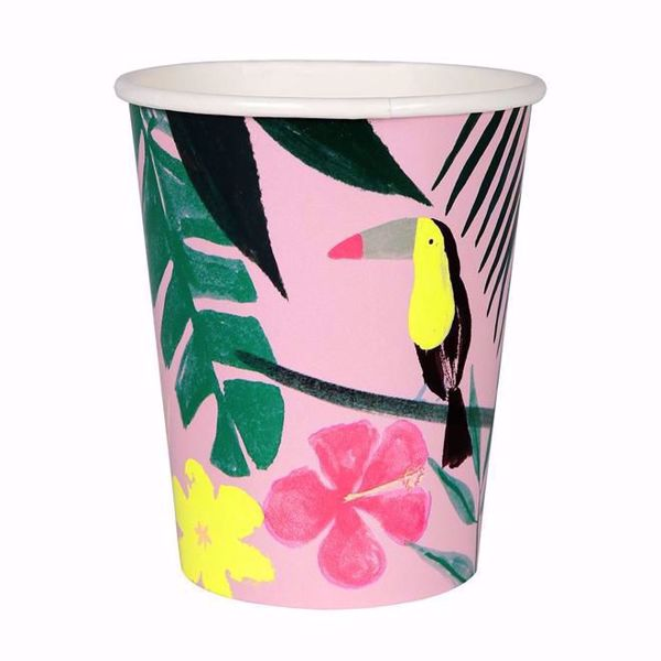 Picture of Pink Tropical Partybecher 260 ml