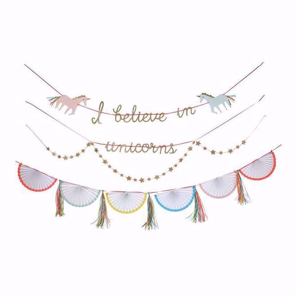 Picture of Girlande Einhorn - Unicorn Garland 4,3 meter