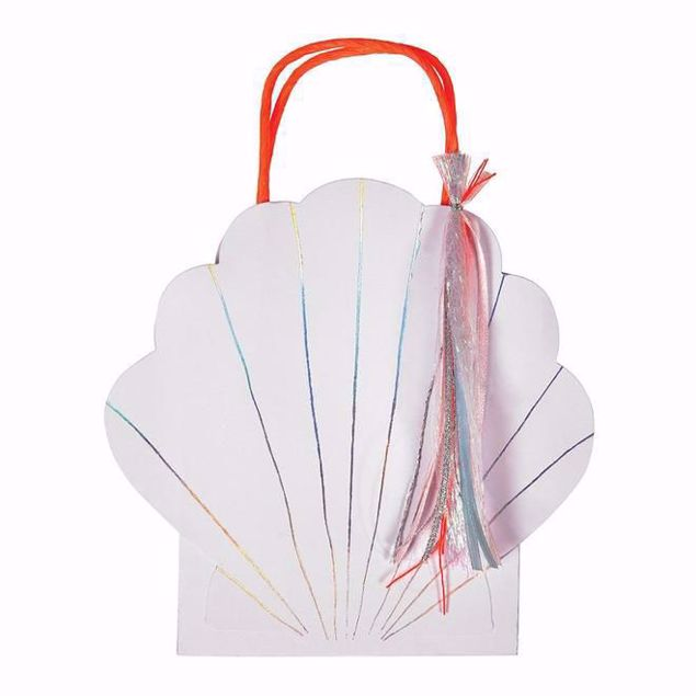 Picture of Muschel Party Tüten - Shell Party bags 16,5 cm x 21,5 cm