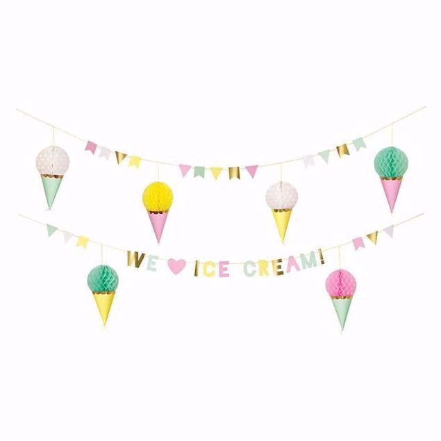 Picture of Girlande Eis Creme - Ice cream garland 4,5 m