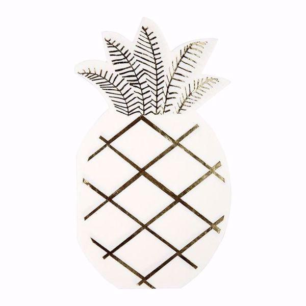 Picture of Ananass Servietten - Pineapple Napkins 10 cm x 18 cm