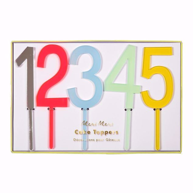 Bild von Geburtstagskerzen Bunt 18 cm x 11,5 cm