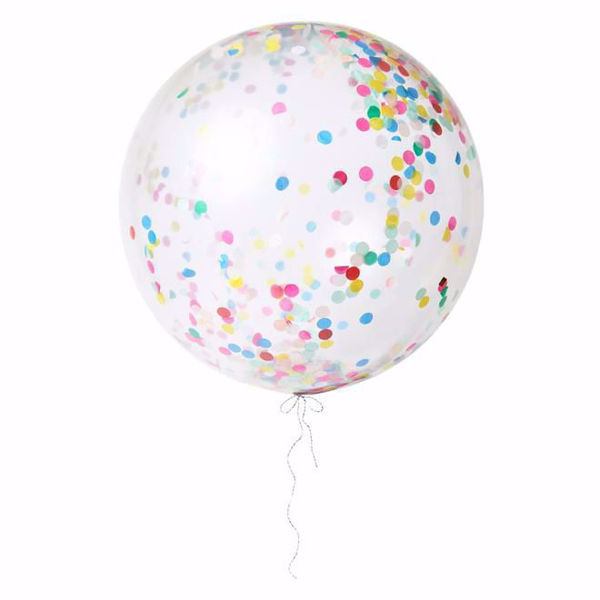 Picture of Riesenballon Bunt Konfetti Set Kit 3 Stück DO IT YOURSELF