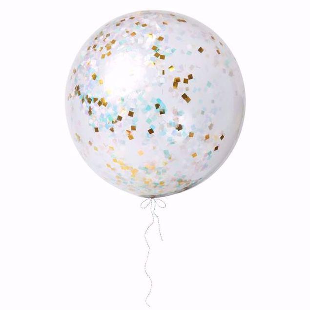 Bild von Riesenballon Iridescent Konfetti Set Kit 3 Stück