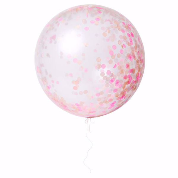 Picture of Riesenballon Pink Konfetti Set Kit 3 Stück DO IT YOURSELF